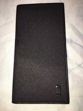 New Dunhill Men's Black Long Wallet