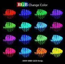 5m LED Streifen 12V 24V RGB RGBW RGB+WW SMD 5050 IP65 Stripe Dimmbar Band Leiste