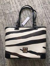 New! Dooney & Bourke Zebra Small Leisure Shopper Bag