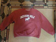 Sweatshirt Dark red Jackson Hole WY size XL EUC!