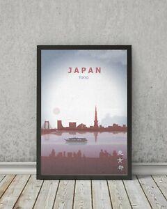 JAPAN poster, Tokyo print, Visit Japan Print wall art, travel gift, home