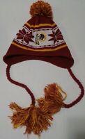 New Era Washington Redskins NFL Sport Knit Hat Cap Beanie Fleece Pom Pom