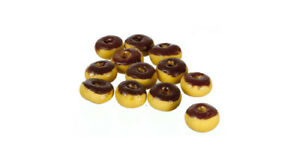 Dolls House Miniature 1:12th Scale Pack of Two Chocolate Donuts