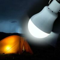 Solar Panel Powered LED Bulb Light 15W Portable Outdoor Camping Tent Energy Lamp