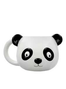 Cute Panda Mug for Tea or Coffee Head White 18x10x11cm