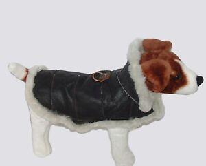 Genuine Sheepskin Dog Coat - Real shearling handmade. Dog jacket by Katz Leather