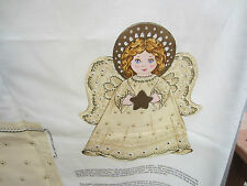 """Cotton Cranston Quilting Crafting Ivory  45"""" Christmas Angel 1 yd fabric Beige"""