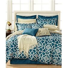 Jessica Sanders Jade Blue QUEEN Reversible Comforter Set 16 pc Bedding $400