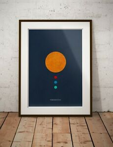 HABITABLE ZONE SPACE - A2, A3 CLASSIC ASTRONOMY PLANETS STARS SPACE PRINT