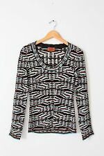 Missoni knit blouse scoop neck sweater silk rayon chevron top size S