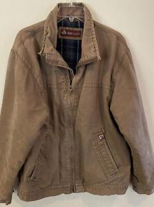 DRI DUCK Blanket Lined Work Jacket Men's Large Brown