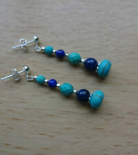 Handmade Turquoise Silver Plated Fine Earrings