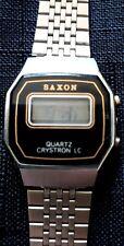 Reloj de cuarzo Vintage Digital Saxon-Crystron Lc-marcas menores