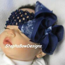 Us Navy Digital Boutique Hair Bow Headband Preemie Newborn Toddler Match Sailor