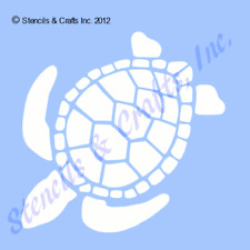 "3.85"" SEA TURTLE STENCIL TURTLES ANIMAL BEACH CRAFT PATTERN TEMPLATE PAINT NEW"