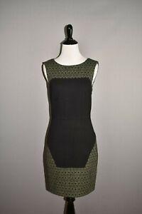 TIBI NEW $324 Diamond Jacquard Knit Paneled Sheath Dress Size 2