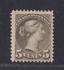 Canada Scott 38 SG 85 MH 1876 5¢ Slate Green Small Queen SCV $800
