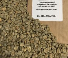 $5 BLEND OF UNROASTED GREEN COFFEE BEANS. GREAT INEXPENSIVE COFFEE SHIPPED FREE!