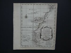 1738 BELLIN  Atlas map  WESTERN AFRICA - CANARY ISLANDS - Coste D'Afrique