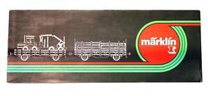 MARKLIN GAUGE 1 85853 FOREST MACHINE WITH CARTS SET