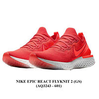 NIKE EPIC REACT FLYKNIT 2 (GS) <AQ3243 - 601>,Unisex Young RUNNING/CASUAl Shoes.
