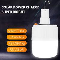 Portable Camping LED Light Bulb Solar Emergency Lantern Patio Workshop Lamps
