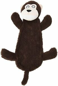 "Spot Ethical Goofy Grins Monkey 13"" Soft plush squeaker head & crinkle body"