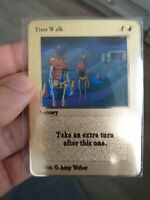 card magic the gathering karte time walk ultra rare sorcery gold metal mtg card