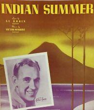 Indian Summer Glen Garr & Orchestra 1939 Vintage Sheet Music