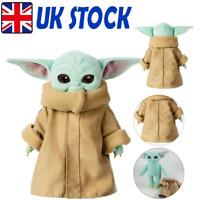 Baby Yoda Plush Toy Wakes Master The Mandalorian Force Stuffed Gift Doll 25/30cm