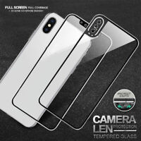 2x Full Coverage Tempered Glass Front & Back Screen Protector for Apple iPhone X