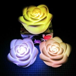 Mini Multi Colors Changing Rose Flower LED Candle Lamp Romantic Wedding Party