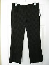 NWT Star City Miranda Express Stretch Black Pin Stripe Capri Crop Pants 7 Jrs L