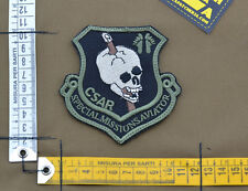 "Ricamata / Embroidered Patch Usaf Aviator ""CSAR"" Black with VELCRO® brand hook"