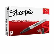 Sharpie Super Permanent Markers Brilliant Colors Fine Point Black 12 Count