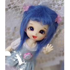 [LF] Wig Pukifee Ae Middle - 14cm For Blue Wool BJD 1/8 Lati Long Dollfie