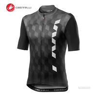 NEW 2020 Castelli FUORI Short Sleeve Full Zip Cycling Jersey DARK GREY
