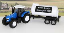 Wedding Day Gift Personalised Page Boy Name Blue Farm Tractor & Tanker Present