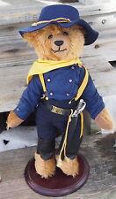 Htf Franklin Mint Protector Of The West Duke Calvary Mohair Collectors Bear rare