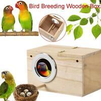 Wooden Cage House Breeding Box Nest For Bird Parrot Parakeet Nest Box E1F6