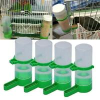 4pcs Bird Drinker Food Feeder Bottles Waterer Clip Aviary Budgie Canary Finches