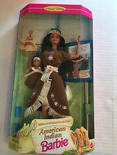 1995 Collectible American Indian Barbie Doll W/ Papoose Baby # 14715 New In Box