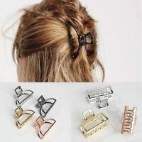 Women Simple Hair Accessories Metal Modern Stylish Hair Claw Clips Hairband 1pc