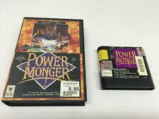 Power Monger (Sega Genesis, 1992) w/Cartridge & Box (No Manual) TESTED Works!