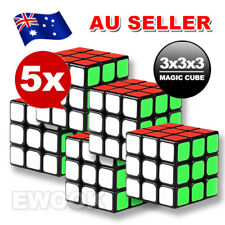 5X Sydney Stock Magic Cube 3x3x3 Super Smooth Speed Rubik Puzzle Rubics Rubix