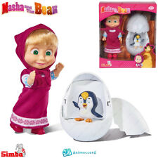 SIMBA Masha and The Bear, Masha Doll Toy, w/Penguin, Gift Box, Cartoon Character