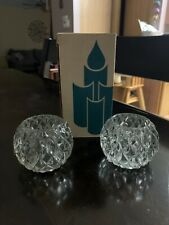 Partylite Rockport Crystal Diamond Pattern Candle Holders #Po577A