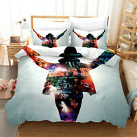 Doona Quilt Duvet Cover Set Single/Double/Queen/King Bed Michael Jackson Linen