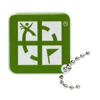 Geocaching Logo Travel Tag® grün Travelbug Groundspeak Nummer trackbar