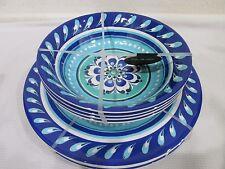 NEW Il Mulino Melamine Floral Dinner Plates & Bowls 8pcs